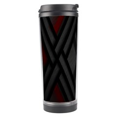Abstract Dark Simple Red Travel Tumbler