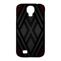Abstract Dark Simple Red Samsung Galaxy S4 Classic Hardshell Case (pc+silicone)