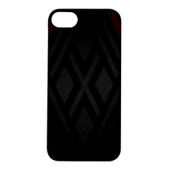 Abstract Dark Simple Red Apple iPhone 5S/ SE Hardshell Case