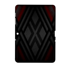 Abstract Dark Simple Red Samsung Galaxy Tab 2 (10.1 ) P5100 Hardshell Case