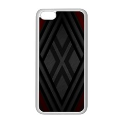 Abstract Dark Simple Red Apple iPhone 5C Seamless Case (White)