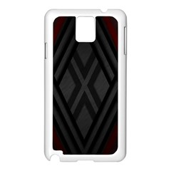 Abstract Dark Simple Red Samsung Galaxy Note 3 N9005 Case (White)