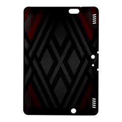 Abstract Dark Simple Red Kindle Fire HDX 8.9  Hardshell Case