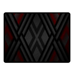 Abstract Dark Simple Red Double Sided Fleece Blanket (Small)