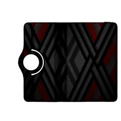 Abstract Dark Simple Red Kindle Fire HDX 8.9  Flip 360 Case