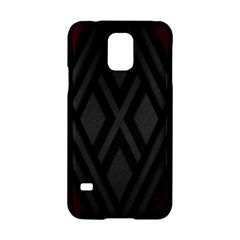 Abstract Dark Simple Red Samsung Galaxy S5 Hardshell Case