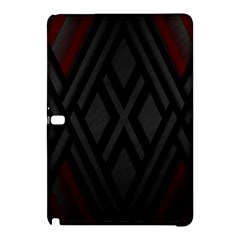 Abstract Dark Simple Red Samsung Galaxy Tab Pro 10 1 Hardshell Case