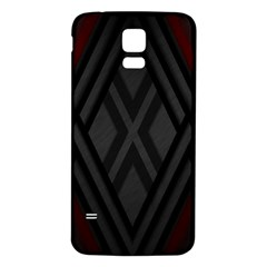 Abstract Dark Simple Red Samsung Galaxy S5 Back Case (White)