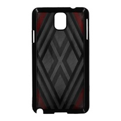 Abstract Dark Simple Red Samsung Galaxy Note 3 Neo Hardshell Case (black)