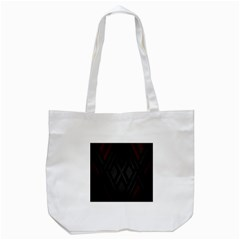 Abstract Dark Simple Red Tote Bag (White)