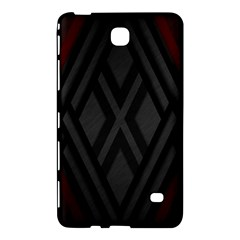 Abstract Dark Simple Red Samsung Galaxy Tab 4 (8 ) Hardshell Case