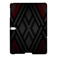 Abstract Dark Simple Red Samsung Galaxy Tab S (10.5 ) Hardshell Case