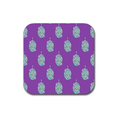 Disco Ball Wallpaper Retina Purple Light Rubber Square Coaster (4 Pack)