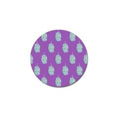 Disco Ball Wallpaper Retina Purple Light Golf Ball Marker (4 Pack)