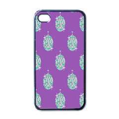Disco Ball Wallpaper Retina Purple Light Apple Iphone 4 Case (black)
