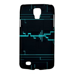Blue Aqua Digital Art Circuitry Gray Black Artwork Abstract Geometry Galaxy S4 Active