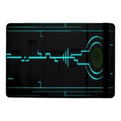 Blue Aqua Digital Art Circuitry Gray Black Artwork Abstract Geometry Samsung Galaxy Tab Pro 10.1  Flip Case