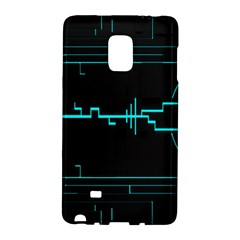 Blue Aqua Digital Art Circuitry Gray Black Artwork Abstract Geometry Galaxy Note Edge