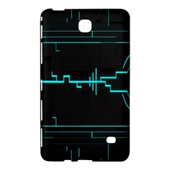 Blue Aqua Digital Art Circuitry Gray Black Artwork Abstract Geometry Samsung Galaxy Tab 4 (8 ) Hardshell Case