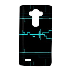 Blue Aqua Digital Art Circuitry Gray Black Artwork Abstract Geometry LG G4 Hardshell Case