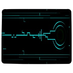 Blue Aqua Digital Art Circuitry Gray Black Artwork Abstract Geometry Jigsaw Puzzle Photo Stand (rectangular)