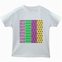 Eye Coconut Palms Lips Pineapple Pink Green Red Yellow Kids White T Shirts