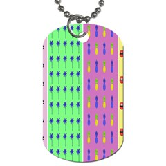 Eye Coconut Palms Lips Pineapple Pink Green Red Yellow Dog Tag (two Sides)