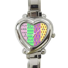 Eye Coconut Palms Lips Pineapple Pink Green Red Yellow Heart Italian Charm Watch