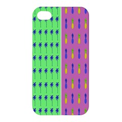 Eye Coconut Palms Lips Pineapple Pink Green Red Yellow Apple Iphone 4/4s Hardshell Case