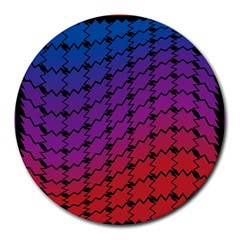Colorful Red & Blue Gradient Background Round Mousepads