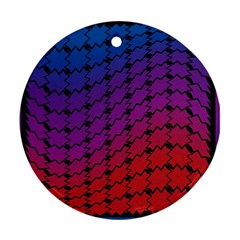 Colorful Red & Blue Gradient Background Ornament (round)