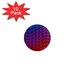 Colorful Red & Blue Gradient Background 1  Mini Magnet (10 Pack)
