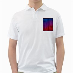 Colorful Red & Blue Gradient Background Golf Shirts