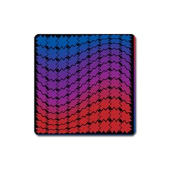Colorful Red & Blue Gradient Background Square Magnet