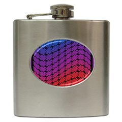 Colorful Red & Blue Gradient Background Hip Flask (6 Oz)