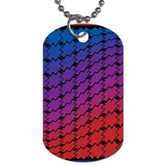 Colorful Red & Blue Gradient Background Dog Tag (two Sides)