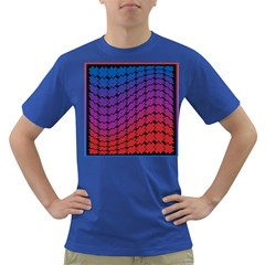 Colorful Red & Blue Gradient Background Dark T-Shirt