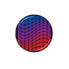 Colorful Red & Blue Gradient Background Hat Clip Ball Marker