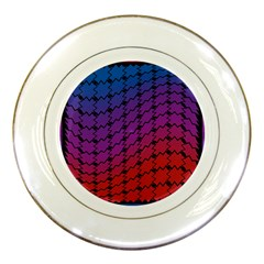 Colorful Red & Blue Gradient Background Porcelain Plates