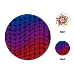Colorful Red & Blue Gradient Background Playing Cards (round)
