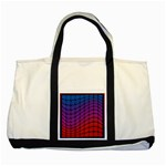 Colorful Red & Blue Gradient Background Two Tone Tote Bag Front