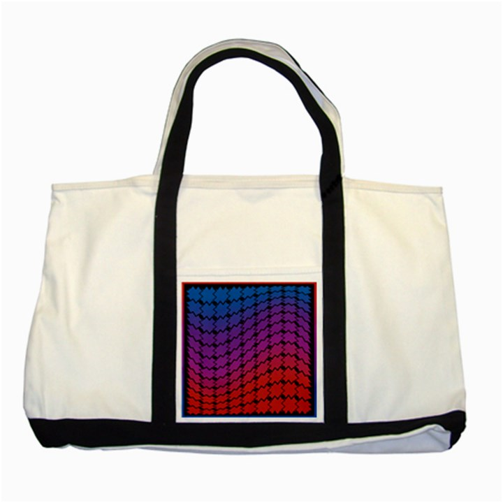 Colorful Red & Blue Gradient Background Two Tone Tote Bag