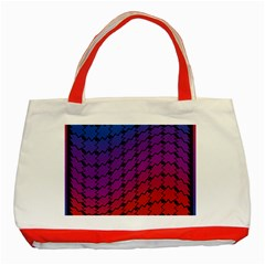Colorful Red & Blue Gradient Background Classic Tote Bag (red)