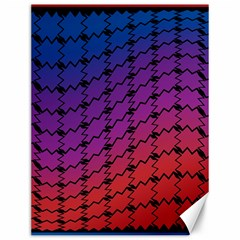 Colorful Red & Blue Gradient Background Canvas 12  X 16