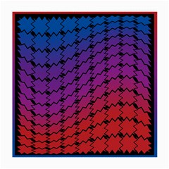 Colorful Red & Blue Gradient Background Medium Glasses Cloth (2 Side)
