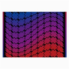 Colorful Red & Blue Gradient Background Large Glasses Cloth