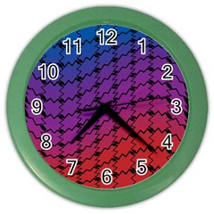 Colorful Red & Blue Gradient Background Color Wall Clocks