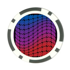 Colorful Red & Blue Gradient Background Poker Chip Card Guard