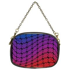 Colorful Red & Blue Gradient Background Chain Purses (two Sides)