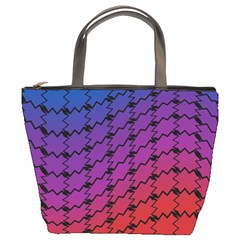 Colorful Red & Blue Gradient Background Bucket Bags